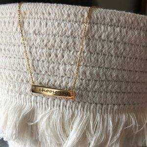 NEW choose joy necklace 22 inches